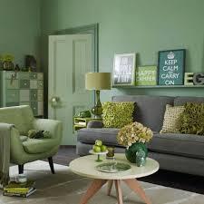 wohnideen wohnzimmer ein ruhiges gefühl durch die farbe grün