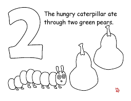 The Very Hungry Caterpillar Coloring Pages Free For Kids 21845