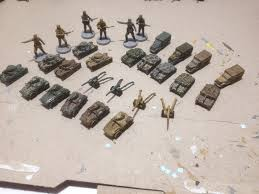 Axis And Allies Boardgame Painted Pieces