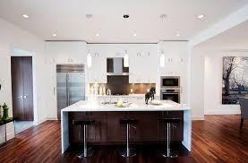 Modern White Kitchen Dark Floor