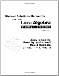 Download Student Solutions Manual For Elementary Linear Algebra Book Pdf