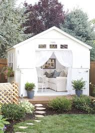 19 She Sheds To Fuel Your Daydreams   Brit + Co Customized Overhangs Make This Garage A One Of Kind Addition To Building Backyard Garden Shed Youtube Give Your An Upgrade With These Outdoor Sheds Hgtvs Lone Star Structures Storage And Buildings In Texas The Factors Consider So As Have Perfect Backyard Shed A Pating Studio Was Designed For Of This Dutch 80 Incredible Makeover Design Ideas Could Work Habitatbungalow Cottage Hut Shed Shack Cabins Garages Animal Shelter More Montana Center 31 Cool Stimulate Senses Zacs Man Cave Brilliant Man Cave