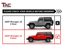 Amazon.com: TAC Side Steps For 2007-2018 Jeep Wrangler JK 4 Door ...