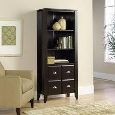 Sauder Shoal Creek Dresser Jamocha Wood Finish by Sauder Shoal Creek 3 Shelf Library Bookcase With Doors Jamocha