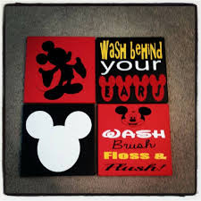 Mickey And Minnie Bathroom Accessories by Mickey Bathroom Decor Curtain U2014 Office And Bedroomoffice And Bedroom