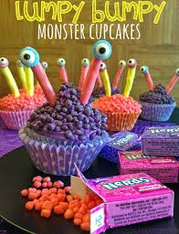 Halloween Candy Carb List by Lumpy Bumpy Monster Candy Cupcakes Treats4all Young At Heart Mommy
