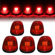 DNA Motoring: For 2002-2018 Dodge Ram 1500-5500 5 X Red Lens LED Cab ... Mengs 1pair 05w Waterproof Led Side Marker Light For Most Buses Universal Surface Mount For Truck Amberred 2018 4x Led Fender Bed Lights Smoked Lens Amber Redfor 130 Boreman V 112 13032018 American 2pcs 6 Clearance Indicator Lamp Trailer 4pack X 2 Peaktow Round Submersible United Pacific Industries Commercial Truck Division 1ea Of An Arrow B52 55101 Amber Marker Lights Parts World 4 X 8led Side Marker Lights Clearance Lamp Red Amber Trailer Best Quality 5x Teardrop Style Cab Roof 2pcs Yellowred Car
