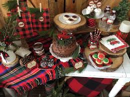 Vintage Rustic Plaid Christmas Party