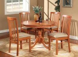 100 Cherry Table And 4 Chairs 5PC Round Kitchen Dinette Set Light