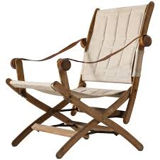 100 Folding Chairs With Arm Rests Scandinavian Safari Chair In Beech And Canvas Upholstery For