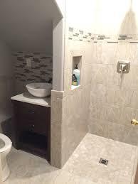 Half Bathroom Ideas Photos by Turned Our Half Bath Into 3 4 Bath By Putting Shower In Where Sink