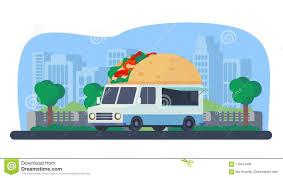 100 Taco Truck For Sale Summer Mobile Shop In City Park Stock Illustration Illustration