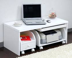Techni Mobili Desk W Retractable Table by Desk Computer Desk Space Saver Space Saver Computer Desk By