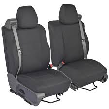 Front Pair - Custom Fit Charcoal Gray Cloth Seat Covers For Ford F ...