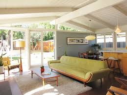 Mid Century Modern Outdoor Furniture Living Room Midcentury With Beige Tufted Rug Clerestory