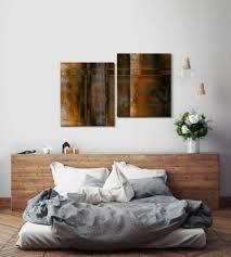 leinwandbild 2x70x60cm abstraktes design rost geometrisch