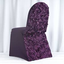 Eggplant Satin Rosette Stretch Banquet Spandex Chair Cover Unique Bargains Stretchy Spandex Ruffled Skirt Short Ding Room Chair Covers Washable Removable Seats Protector Slipcovers For Wedding Party Purple Colour Lycra Universal Cover Decoration On Sale Banquet Arch Front Open To Buy Rent Table Linen By Linens Spandex Ruffled Shirred Cadburys Purple Spandex Chair Cover 4 Pcs Dark Stretch Cinglenspandex Chair Wedding Covers Ding 160gsm Lavender With Foot Pockets Lacys Rentals Denver Colorado Hi Bar Cloth