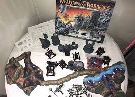 1994 WEAPONS AND WARRIORS Castle Combat Pirate Battle Set Board Vintage