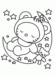 Hello Kitty Coloring Page Baby