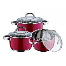batterie cuisine en batterie de cuisine en inox 6 pieces kaiserhoff kh 6522