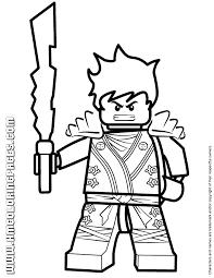 Ninjago Kai KX With Elemental Blade Coloring Page