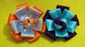 DIY Quick Easy Satin Ribbon Flower