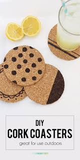 DIY Cork Coasters Super Easy Craft Project