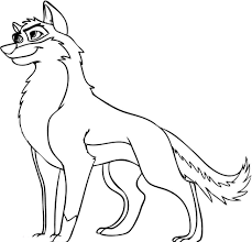 Cartoon Wolves Coloring Pages Free Printable Wolf For Kids
