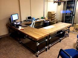 reclaimed wood studio desk great details for using reclaimed