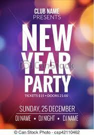 Event Celebration Flyer Template Bokeh Lights New Year Festive Poster Vector