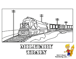 Blank Book Coloring Pages Trains