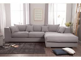 canapé en tissu gris canapé d angle en coton et avec grande méridienne edward gris