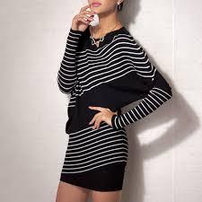 black white diagonal stripe dolman blouse top sweater tunic