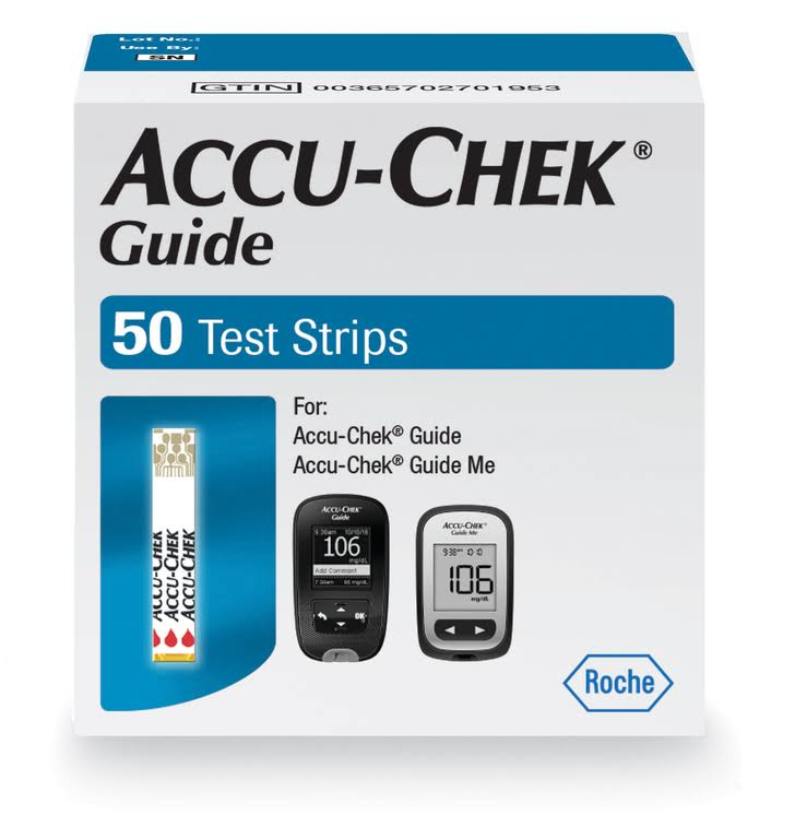 Accu-Chek Guide Glucose Blood Test Strips - 50ct