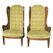Pair Vintage Lewittes Cane & Velvet Wingback Chairs On PopScreen Hollywood Regency Vintage Louis Xvi Style Pair Of High Back 1960s Tufted Ivory Velvet Armchair Chairs In Animal Hollywood Regency Retro 70s Highback Arm Mid Century Attributed To Adrian Pearsall For Craft A Set 2 Everything You Need To Know About Design Palma Lounge Chair Green Xk64 Advancedmasgebysara