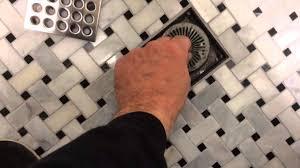 Bathroom Sink Drain Hair Stopper by Hair Trap Drain In Tile Shower Youtube