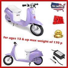Electric Scooters For Girls Teens Kids Adults Moped Bike Motor Razor Seat Wheels