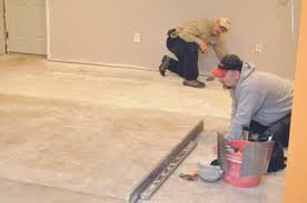 Wood Floor Leveling Filler by How To Level A Subfloor Before Laying Tile One Project Closer