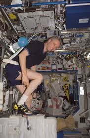 Expedition 13 Image Of Astronaut Thomas Reiter Exercising On The