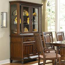 Dining Corner Hutch With Glass Doors Cherry Wood China Cabinet Narrow Room White Dinin