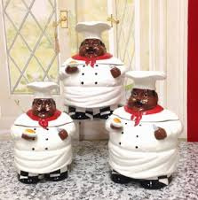 Buy Bistro Fat Chef Canister Set Ceramic Kitchen Decor By Ack In