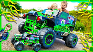Power Wheels Ride On Monster Truck Grave Digger CRUSHES RC Monster ... Grave Digger Truck Wikiwand Hot Wheels Monster Jam Vehicle Quad 12volt Ax90055 Axial 110 Smt10 Electric 4wd Rc 15 Trucks We Wish Were Street Legal Hotcars Ride Along With Performance Video Truck Trend New Bright 18 Scale 4x4 Radio Control Monster Wallpapers Wallpaper Cave Power Softer Spring Upgrade Youtube For 125000 You Can Buy Your Kid A Miniature Speed On The Rideon Toy 7 Huge Monster Jam Grave Digger Hot Wheels Truck