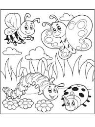 Butterfly Coloring Pages Caterpillar Bugs Activities