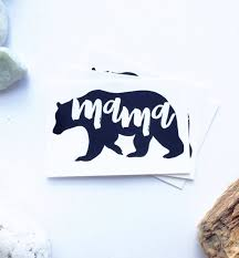 Mama Bear Tattoo Black Tatoo Calligraphy