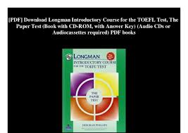 PDF Download Longman Introductory Course For The TOEFL Test Paper