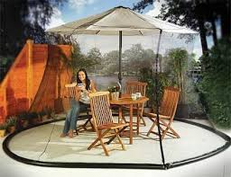 Square Patio Umbrella With Netting by Patio Umbrella Mosquito Nets