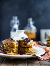 Easy Healthy Pumpkin Pancake Recipe by Whole Wheat Pumpkin Pancakes With Candied Bacon Easy Healthy