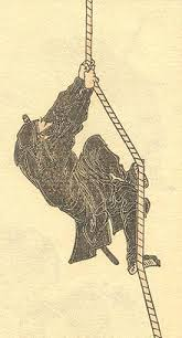 Drawing Of The Archetypical Ninja From A Series Sketches Hokusai Manga By Woodblock Print On Paper Volume Six 1817