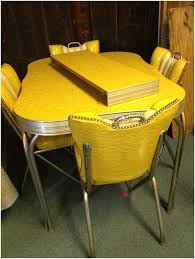 Chromcraft Dining Room Chairs by Leather Cotton Ladder Yellow Vintage Kitchen Table And Chairs