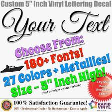 "Vinyl Lettering Beautiful 5"" Custom Vinyl Lettering Decal Sticker"